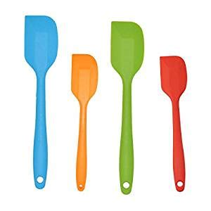 multi colored kitchen utensils horntide 4 silicone spatula set 2x large 3407