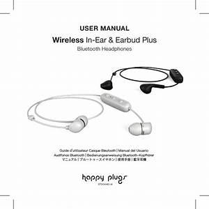 Happy Plugs Wireless Bluetooth Headphones User Manual