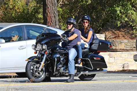 George And Amal Clooney Go For A Motorcycle Ride In La