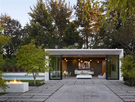 Moderne Poolhäuser by Modern Pool House And Garden Sonoma 171 Enertia Designs
