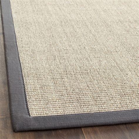 Rugs Grey by Safavieh Fiber Marble Grey Sisal Area Rugs Nf441b