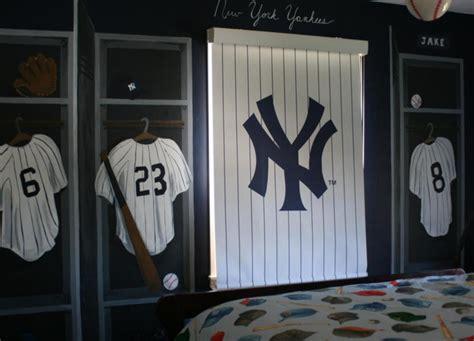 yankee bedroom decorating ideas new york ny yankees locker room wall mural nursery jersies