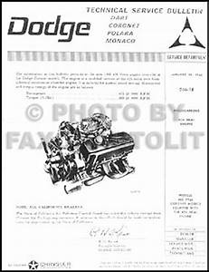 1966 Dodge 426 Hemi Repair Manual 66 Coronet Charger