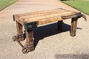 gadgetspongecom repurposing upcycling birds nature With old barn wood coffee table