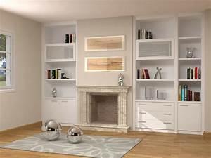 Mueble de salon adaptado a chimenea Onlinemuebles