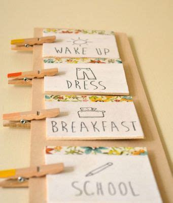 daily routine chore charts  kids  images