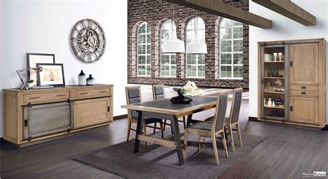 canapé entrée salle à manger bois métal style industriel