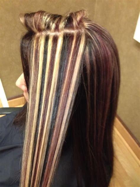 Blonde Streaks With Red Lowlights My New Hair