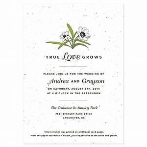 love grows seed invitation plantable wedding invitations With wedding invitations you can plant