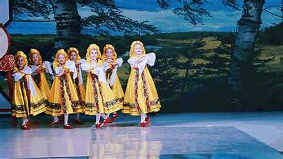 Russian Dancing Traditional Culture Young Angels Dancers