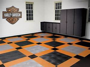 Harley-Davidson Garage Flooring Tiles Motorcycle Floor Pad