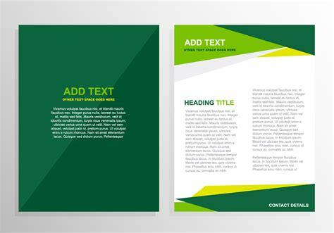 Free Vector Green Brochure Template Design #12824