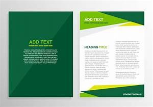 free vector green brochure template design 12824 my With free vector brochure templates