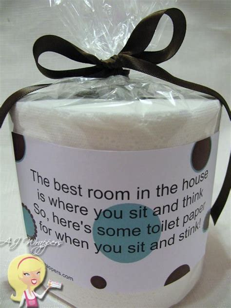toilet paper gag gift sit stink white elephant gifts