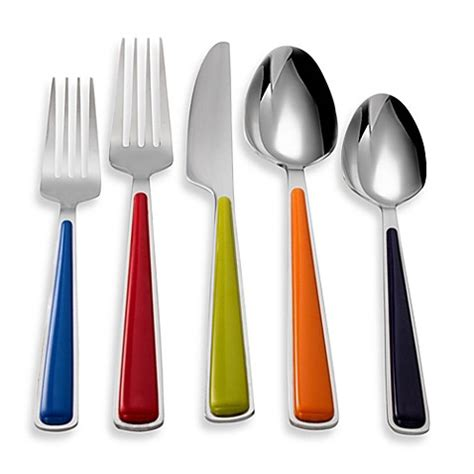 flatware fiesta piece merengue sets colorful beyond bath bed bedbathandbeyond