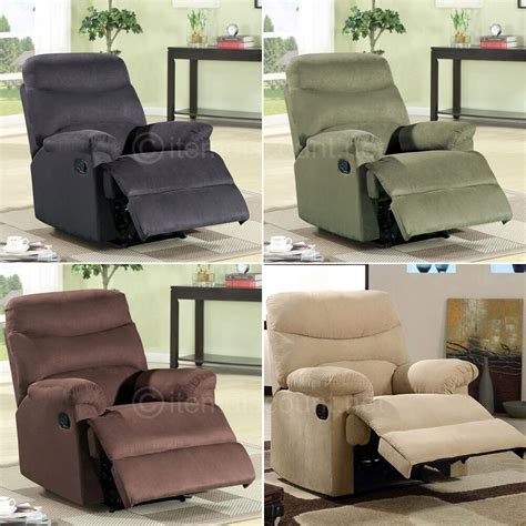 Black Oversized Recliner by Microfiber Chaise Recliner Chair Reclining Seat Soft