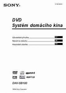 Sony Dav Sb100 Home Theater Download Manual For Free Now