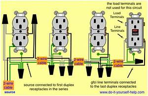 Wiring Diagram For A Gfci And Multiple Duplex Receptacles