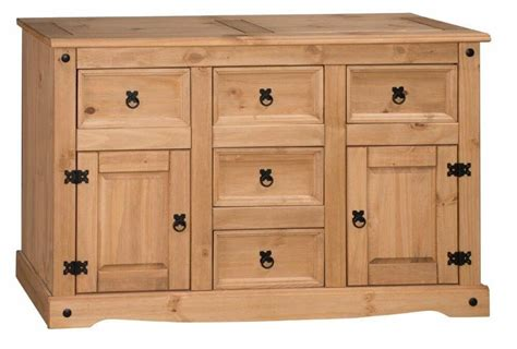 Corona Mexican Pine Sideboard by Mercers Furniture 174 Corona Mexican Pine Large 2 Door 5
