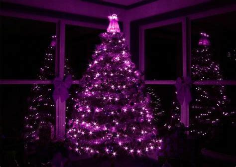 black christmas tree with purple lights top purple trees decorations celebration all about