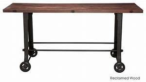 Nuevo Living - V17 Bar Table, Reclaimed Wood Top - View in
