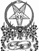 Satanic Coloring Satan Drawing Church Demon Hell Marriage Baphomet Demons Tattoo Flash Getdrawings Feed Third Side sketch template