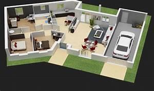 Créer Son Propre Plan De Maison Gratuit : idee maison plain pied 8 5 plans pour construire votre ~ Premium-room.com Idées de Décoration