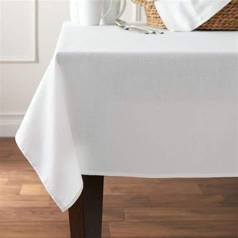 abode white tablecloth crate  barrel