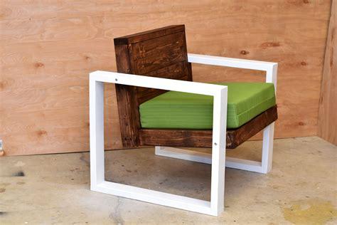modern outdoor chair diy build