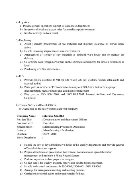 100 sle resume for document controller ma thesis