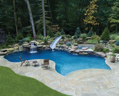 beach entry gunite pool  dolphin water
