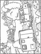 Caravan Colouring Pages Drawing Kiddicolour Printable Getcolorings sketch template