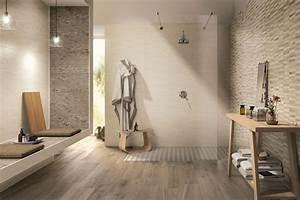 salle de bain bois et pierre en backs plash With salle de bain bois et pierre