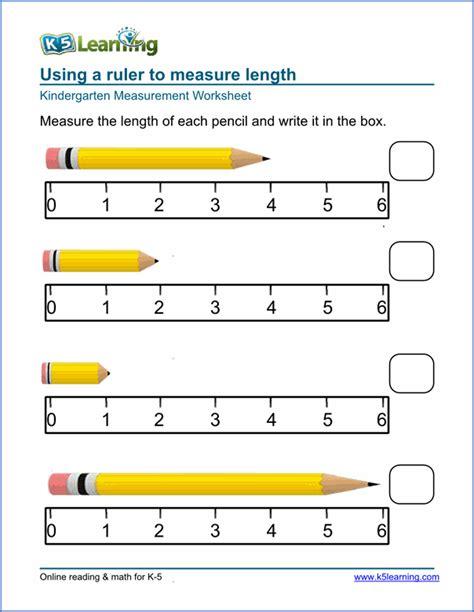 free length worksheet for kindergarten with preschool kindergarten measurement worksheets