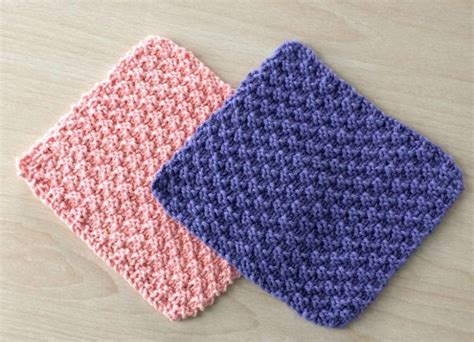 basic jumbo 4 knit and purl dishcloths allfreeknitting