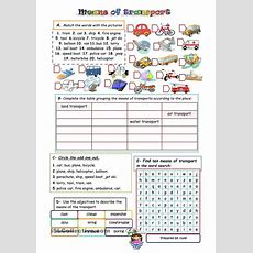 Means Of Transport  Teaching Stuff  Pinterest  Studentcentered Resources, Printables And