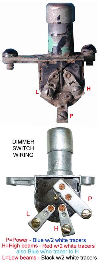 dimmer switch wiring  cja page forums