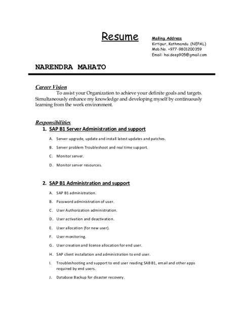 Career Vision For Resume by Resume