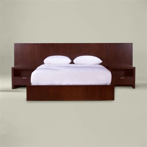 morgan queen bed with side panels modern beds by