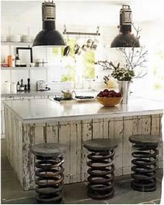 Cuisine Deco Industrielle : design industriel dans cette cuisine blanche ~ Carolinahurricanesstore.com Idées de Décoration