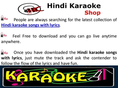 Karaoke songs with lyrics hindi