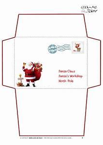 printable letter to santa claus envelope template santa With santa letter and envelope