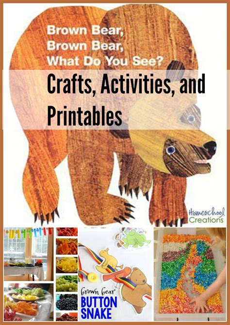 brown brown crafts activities and printables 604 | Brown Bear Brown Bear crafts activities and printables