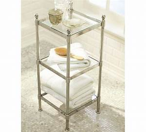 metal etagere pottery barn With small bathroom etagere