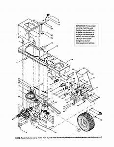 Frame  Drive Belt  Transmission Diagram  U0026 Parts List For Model 13af608g062 Mtd