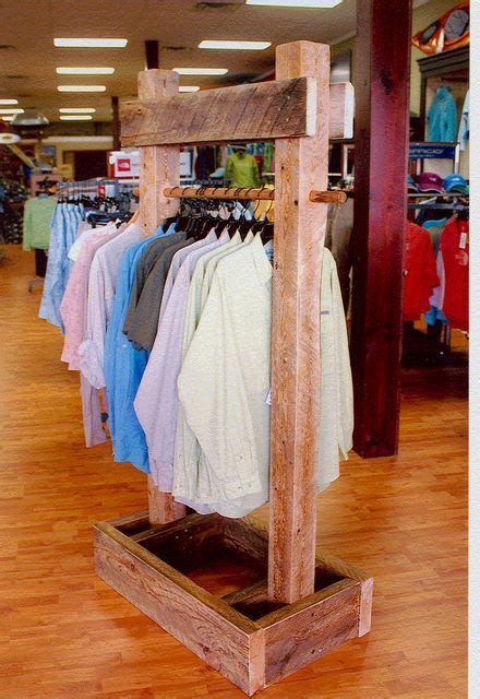 reclaimed timber clothing racks  display stands