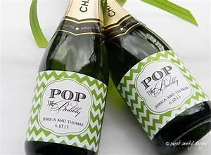 pop the bubbly mini champagne bottle labels custom wine With custom mini champagne bottle labels