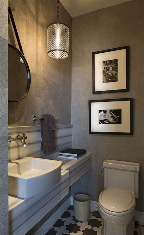 white  gray powder room contemporary bathroom