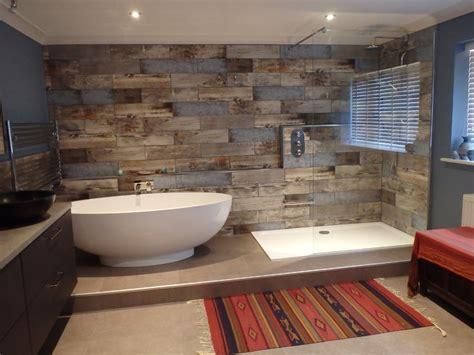 wood tile bathroom reclaimed wood s bathroom transformation walls