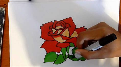 graffiti rose drawing  colour easy  draw youtube
